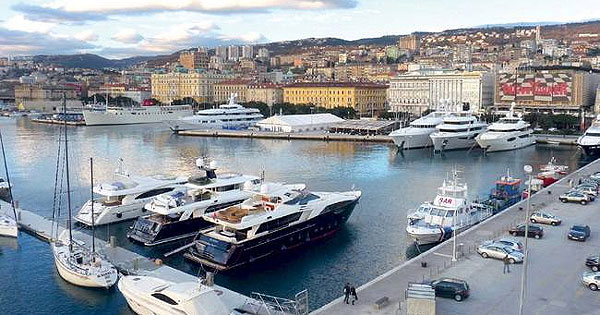 Port of Rijeka, Croatia - Yachts